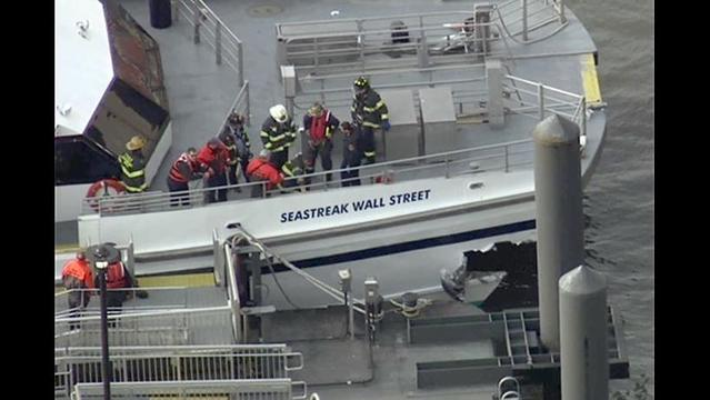 58 Injured When Commuter Ferry Crashes in Manhattan