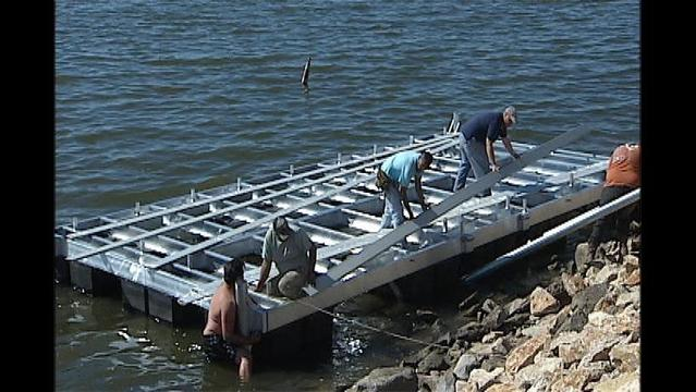 Lake Wichita Floating Dock Almost Complete