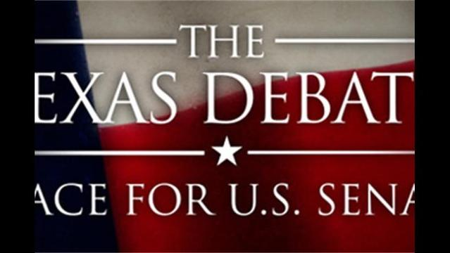 U.S. Senate debate between Republican Ted Cruz and Democrat Paul Sadler