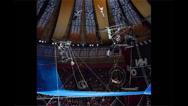 Acrobat Falls through Safety Net during Moscow Circus Show