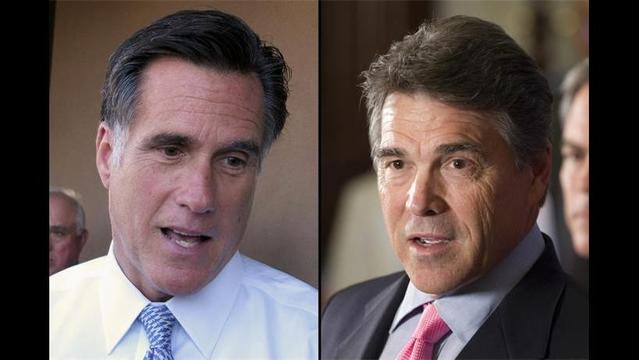 Rick Perry and Mitt Romney, made nice on Wednesday