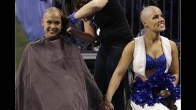 Colts Cheerleaders Shave Heads