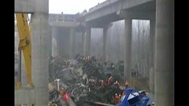 Truck Carrying Fireworks in China Explodes, Causes Highway Collapse