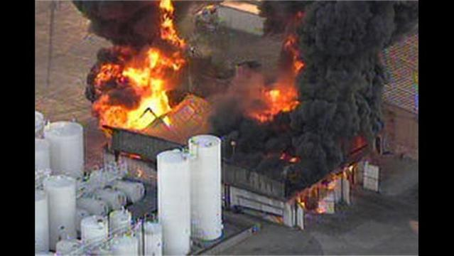 Industrial Facility on Fire in Garland