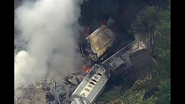 Train Derails in Maryland and Explodes