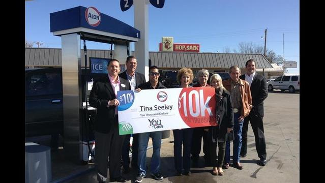 Alon Gives Away $10,000 in Free Gas to Lucky Marlow Resident