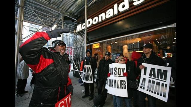 Fast-Food Workers Strike, Citing Low Wages