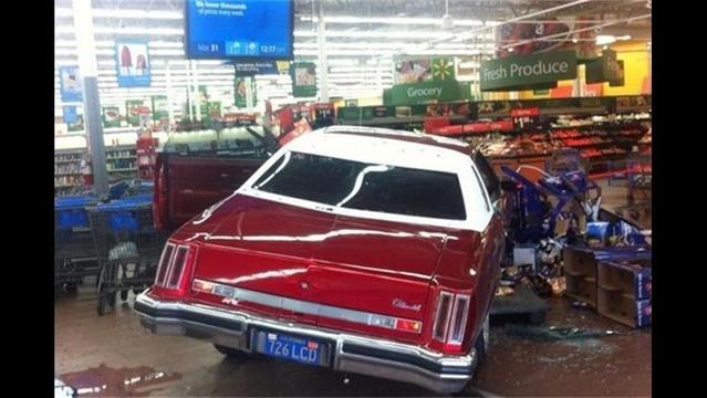 Man Crashes Car into Walmart, Attacks Customers