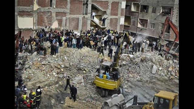 At Least 25 Dead after Building Collapses in Egypt