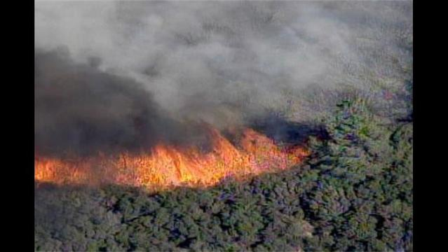 Fire Burns 50 Miles North of Los Angeles