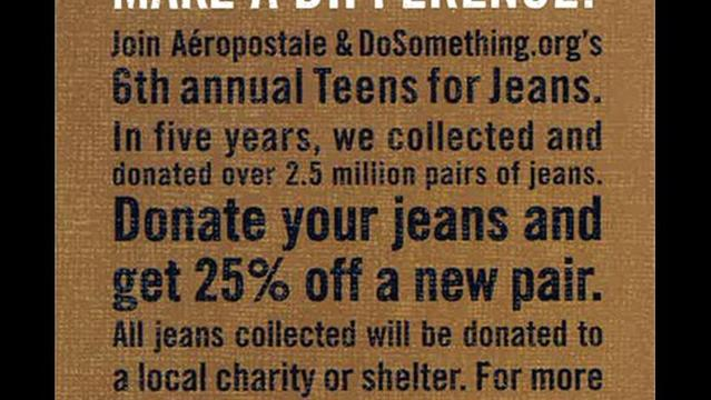 Store Taking Jean Donations to Benefit Faith Mission