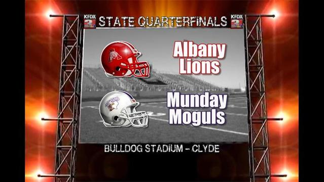 1A, D-II State Quarterfinals: Munday vs Albany