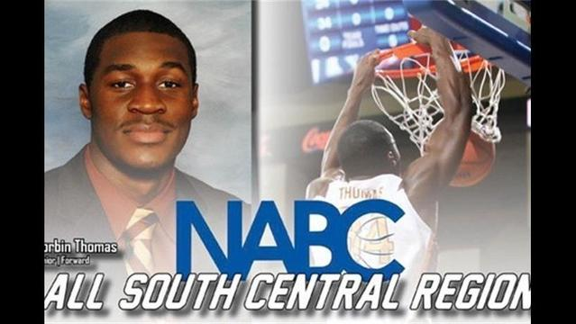 Thomas Earns NABC All-South Central Region First-Team Honors