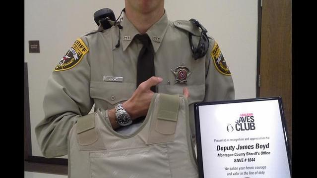 Montague County Deputy Honored with New Vest