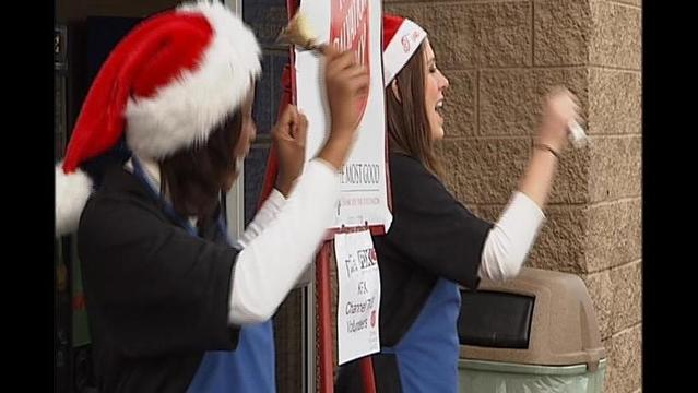 KFDX Rings In Winning Total for Salvation Army