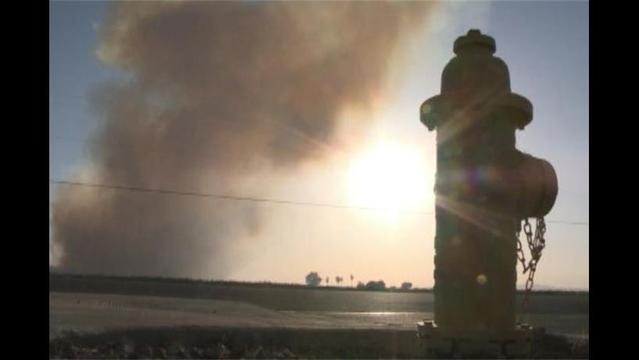 Massive Mulch Fire Smolders in Arizona