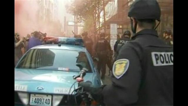 May Day Protest Turns Violent