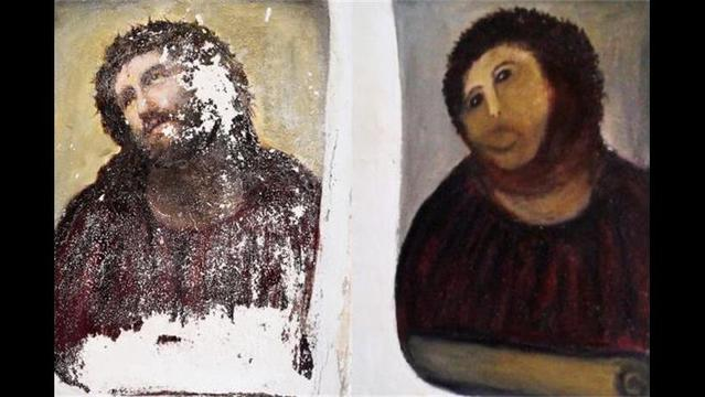 80-year-old's Botched Restoration of Jesus Painting Sells for over $1,000 on eBay