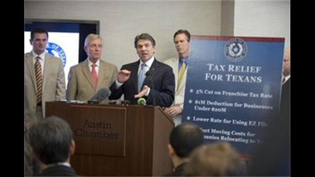 Perry Seeking Tax Relief Texans Can Feel