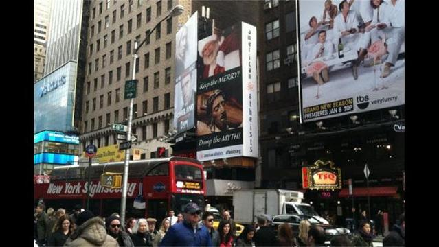 Holiday Message: Atheists Dub Jesus a 'Myth' on Times Square Billboard