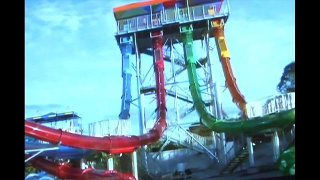 Castaway Cove Slide Under Construction