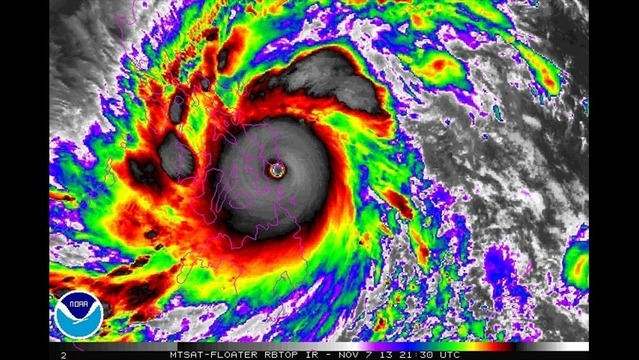 Super Typhoon Haiyan Makes Landfall in Central Philippines