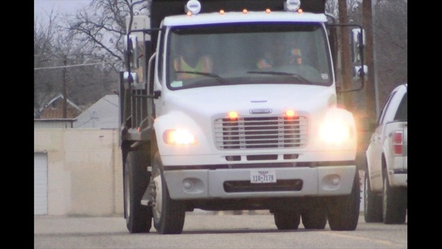 Wichita Falls Crews Spread Ice Chat for Traction on Roads