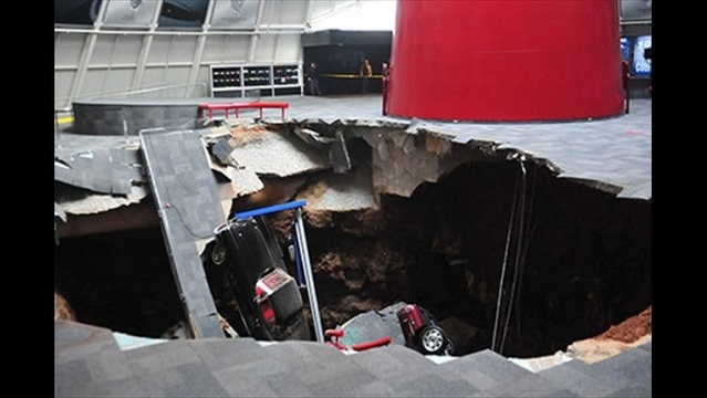 Sinkhole Swallows Classic Cars