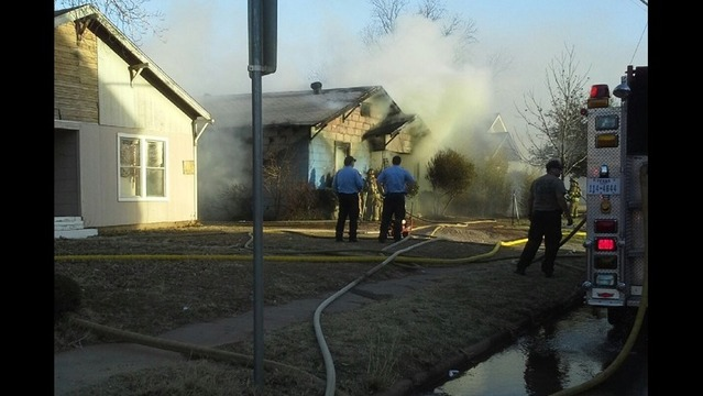 House Fire Closes Street