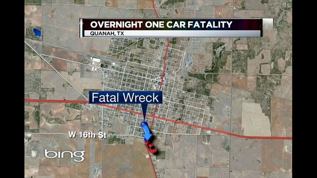 Alcohol May Have Been a Factor in Quanah Crash that Killed One