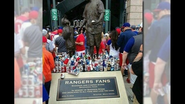Rangers Fan Memorial Statue Trashed