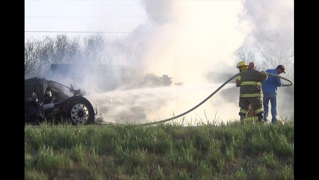 Fiery Crash Closes One Lane of Highway 287 for Several Hours