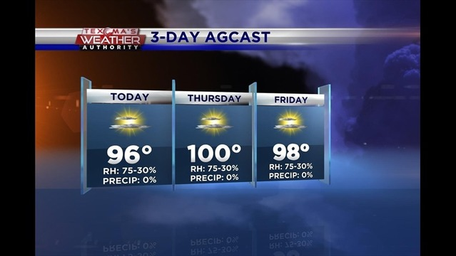 Wednesday Ag Weather: Aug. 06, 2014