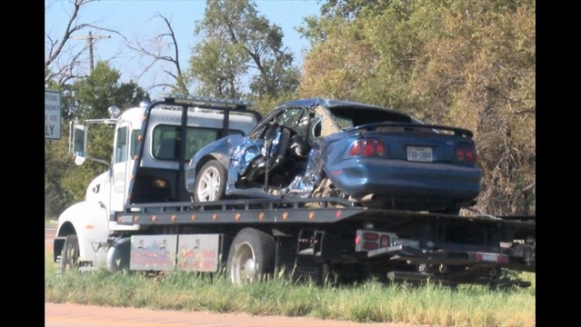 Woman in Critical Condition After Two Car Crash Near the Pease River Bridge