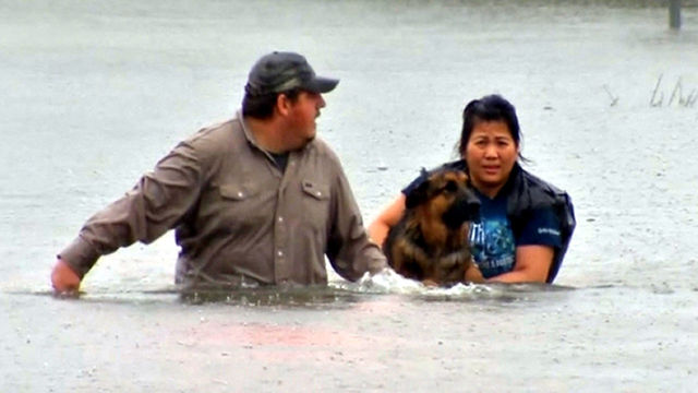 Houston rescues continue into Monday