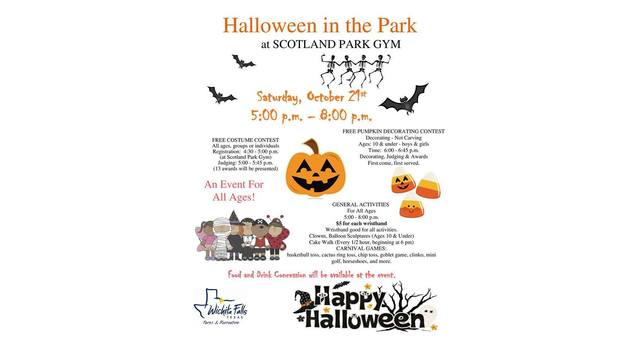 Halloween in the park has been moved