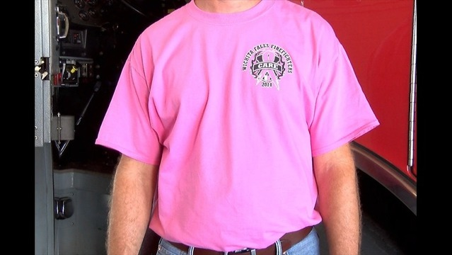 ebfa495fb0ac Wichita Falls Firefighters Selling Pink Shirts During Breast Cancer  Awareness Month