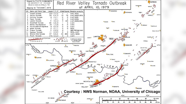 Map Of Tornadoes In Texas Yesterday.10 Incredible Facts About The Terrible Tuesday April 10 1979