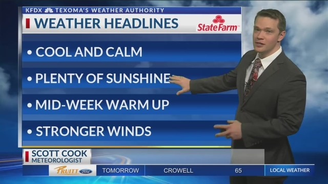 KFDX 3 News at 10, Weather - January 27, 2018