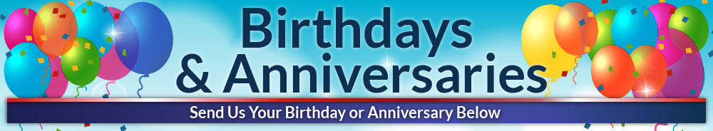 Birthay's and Anniversaries