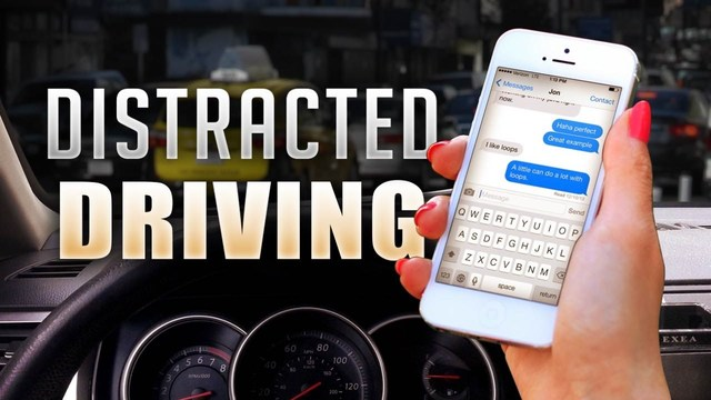 Increasing number of distracted drivers on the road