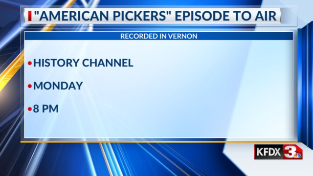 American Pickers episode filmed in Vernon to air Monday