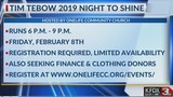 Onelife Community Church hosting Tim Tebow 2019 Night To Shine