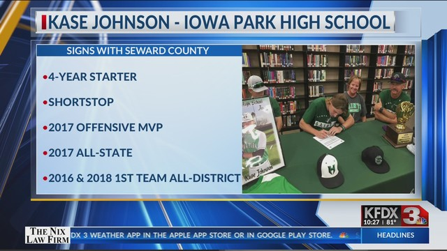 Johnson to Join Seward County Baseball Program - April 10, 2019