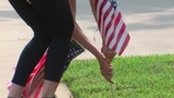 Mother-daughter team honor veterans, give out 500 American flags